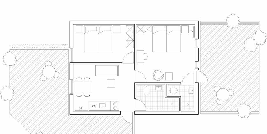 Grundriss Familie Apartment Hotel Balka Strand
