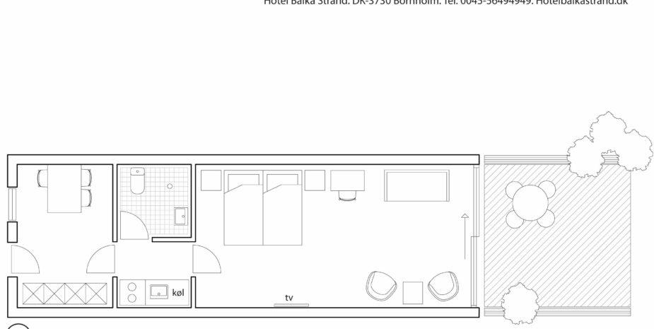 Grundriss Studio Apartment Hotel Balka Strand